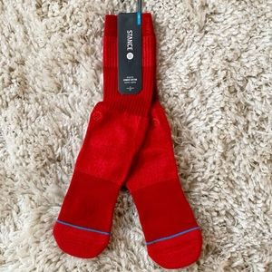 Stance Combed Cotton Crew Primary Red Socks Joven